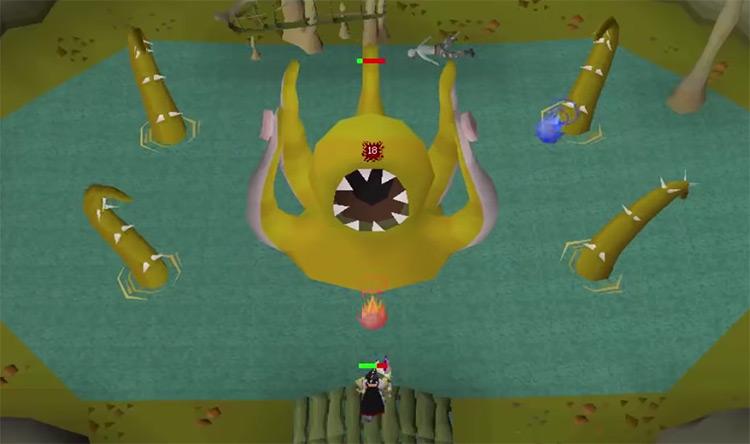Kraken (boss) in OSRS screenshot