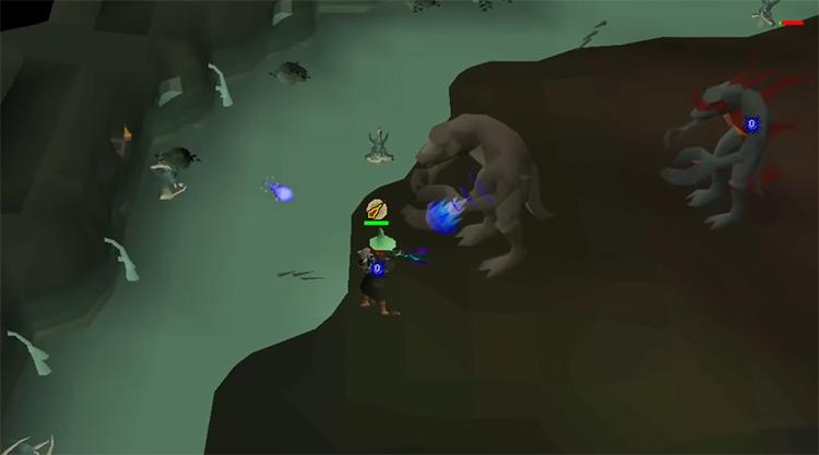 Dagannoths in OSRS screenshot