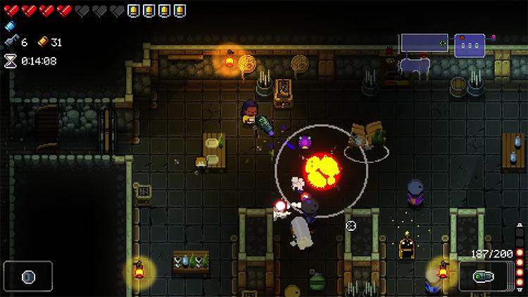 Enter the Gungeon Heroine gameplay screenshot