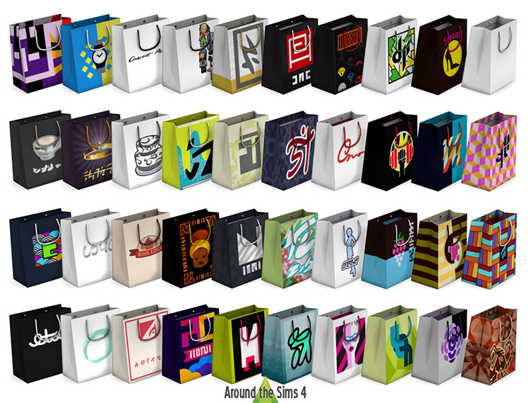 Shopping Bags & Boxes for The Sims 4