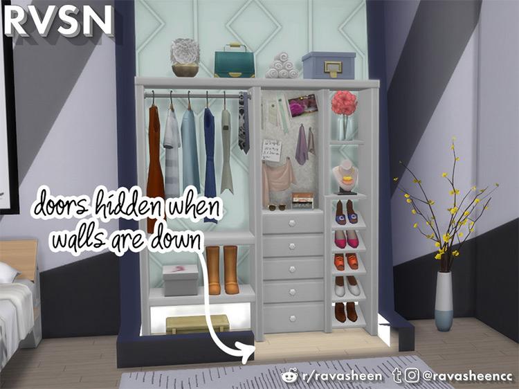 Hang Around Pocket Closet Door for The Sims 4