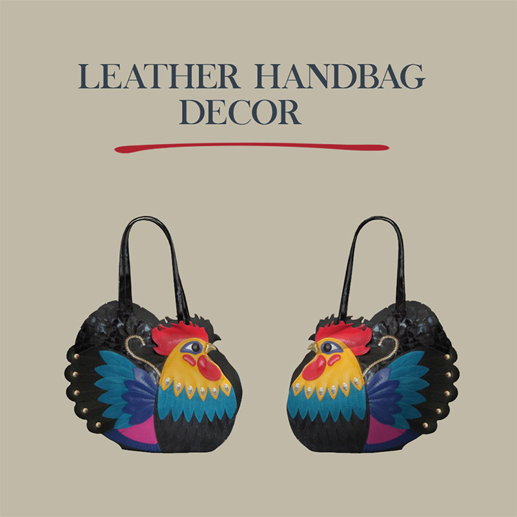Leather Handbag Decor / Sims 4 CC