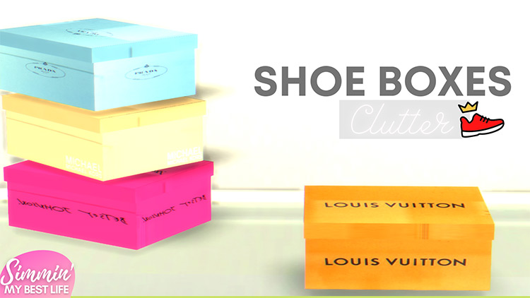Shoe Boxes Clutter for The Sims 4