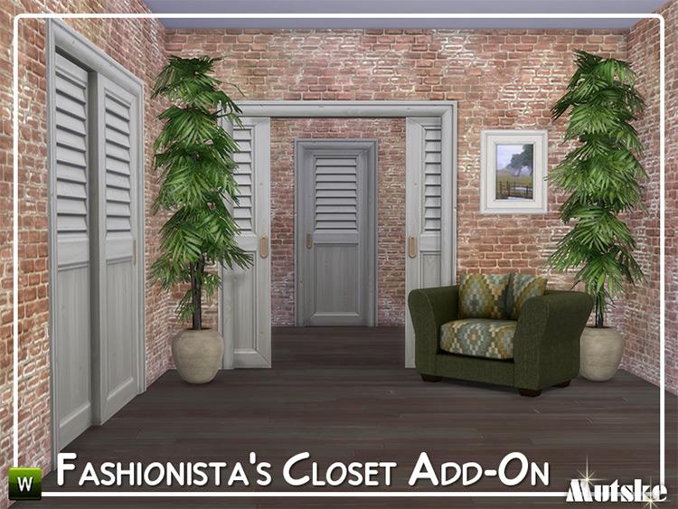 Fashionista Closet Add-On Set / Sims 4 CC