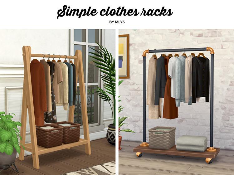 Closet Clothes Racks for The Sims 4