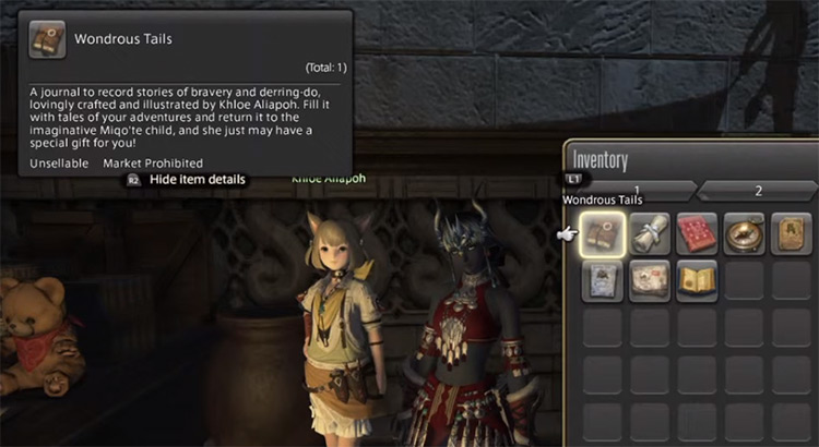 Wondrous Tails Journal in Final Fantasy XIV