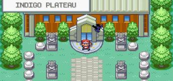 Outside Indigo Plateau in Pokemon FireRed