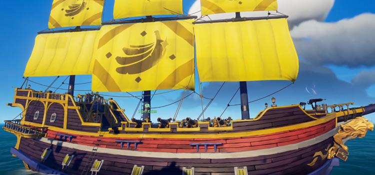 Golden Banana Sails Screenshot from Sea Of Thieves
