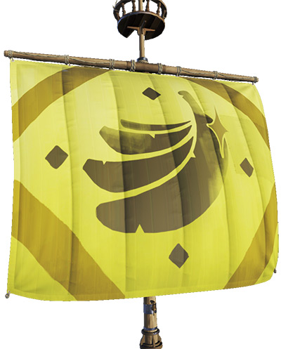 Golden Banana Sails in Sea of Thieves