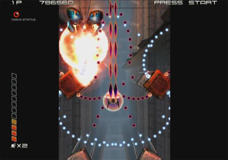Ikaruga GCN gameplay screenshot