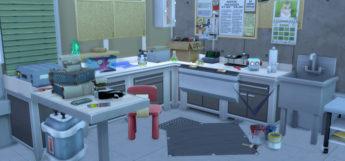 Rick's Garage Lab from Rick & Morty / TS4 Build Screenshot