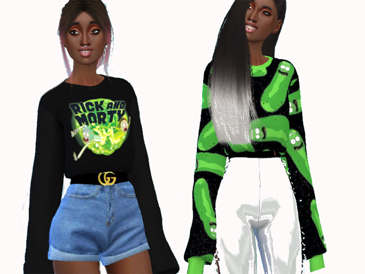 Sims 4 CC / Rick & Morty Sweater