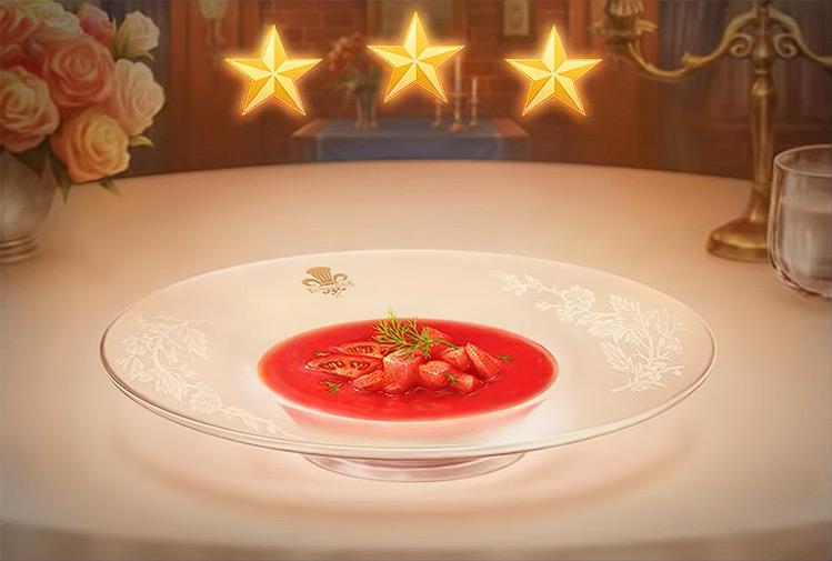 Kingdom Hearts 3 Cold Tomato Soup Dish