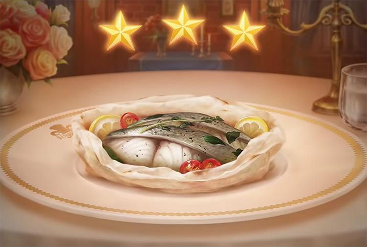Kingdom Hearts 3 Sea Bass en Papillote Dish