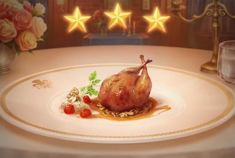 Kingdom Hearts 3 Stuffed Quail Dish