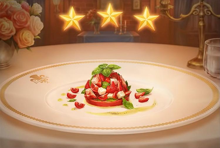 Kingdom Hearts 3 Caprese Salad Dish
