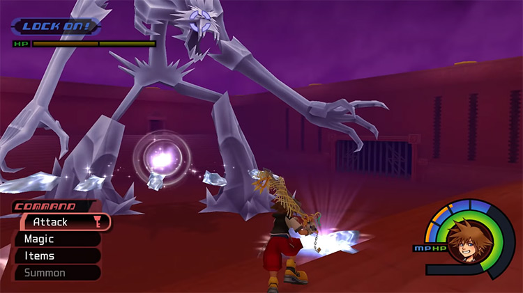 Ice Titan Battle in Kingdom Hearts HD 1.5 ReMIX
