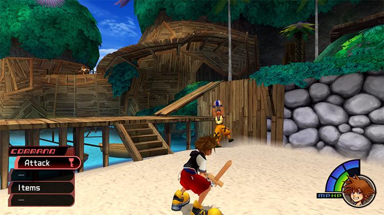 Destiny Island Duel with Wakka / KH 1.5