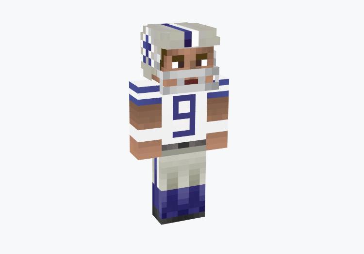 Dallas Cowboys Tony Romo Design / Minecraft Skin