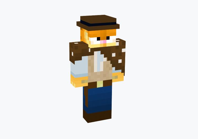 Cowboy Garfield / Minecraft Skin