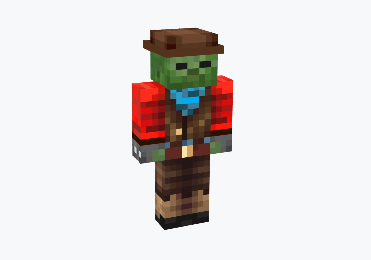 Zombie Cowboy Character / Minecraft Skin
