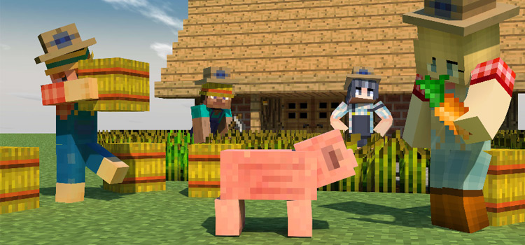 Girl and Guy Farmer Skins in Minecraft