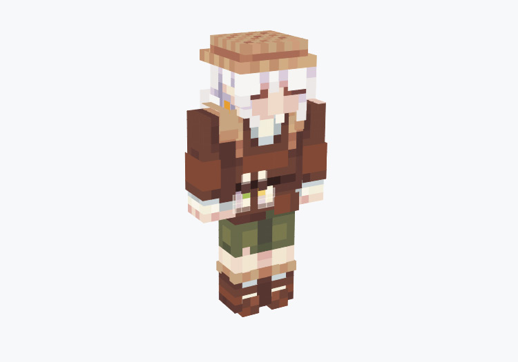Traveling Farmer Character with Hat / Minecraft Skin