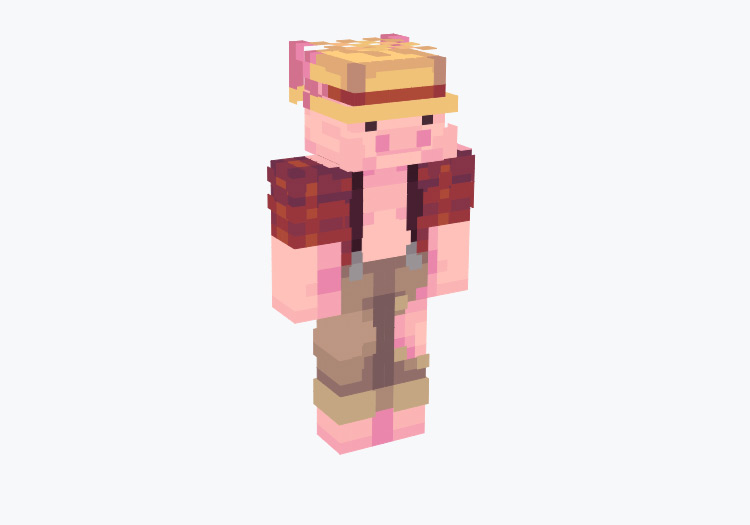 Pig in Farmer Outfit / Minecraft Skin