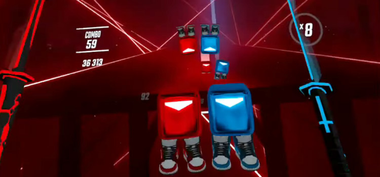 Custom Blocks with Nike Sneakers in Beat Saber