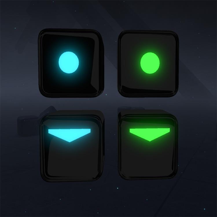 Colored Arrow Blocks mod for Beat Saber