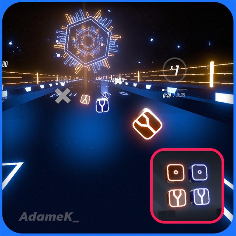 Neon Fork Blocks / Beat Saber mod