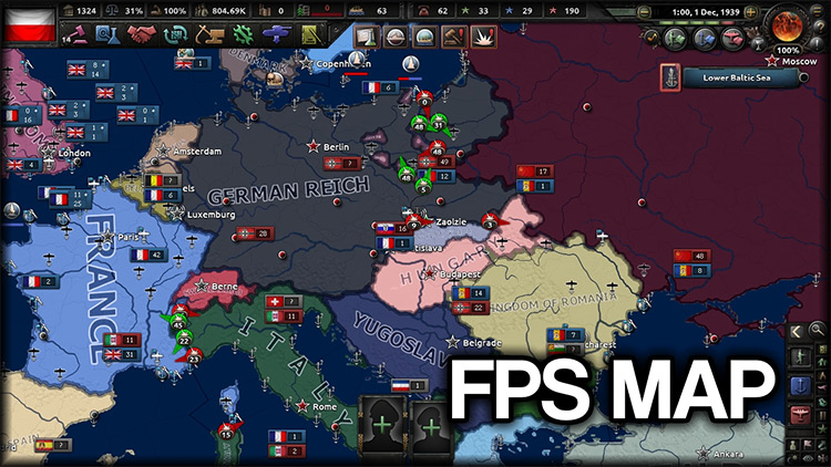 FPS Map Hearts of Iron 4 Mod