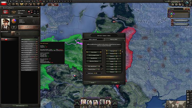 Peace Deals Mod / Hoi4 screenshot