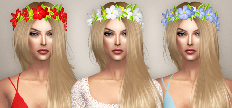 Flower Circlet Headbands CC for The Sims 4