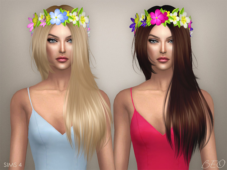 Circlet of Flowers / Sims 4 CC
