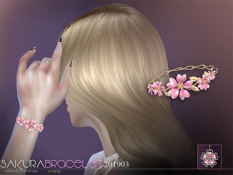 Sakura Bracelet for The Sims 4