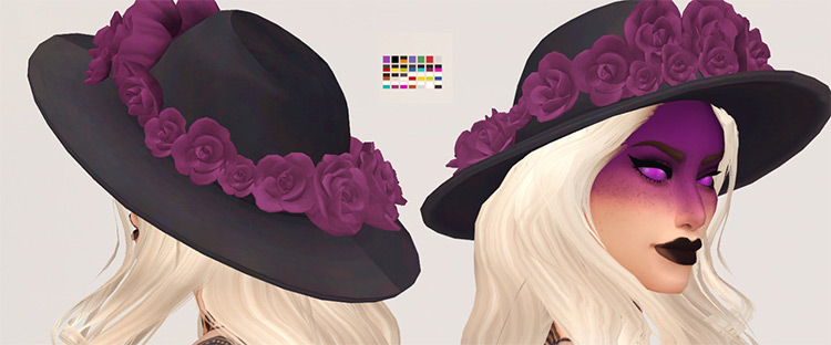 Carnation Hat with Flowers / TS4 CC