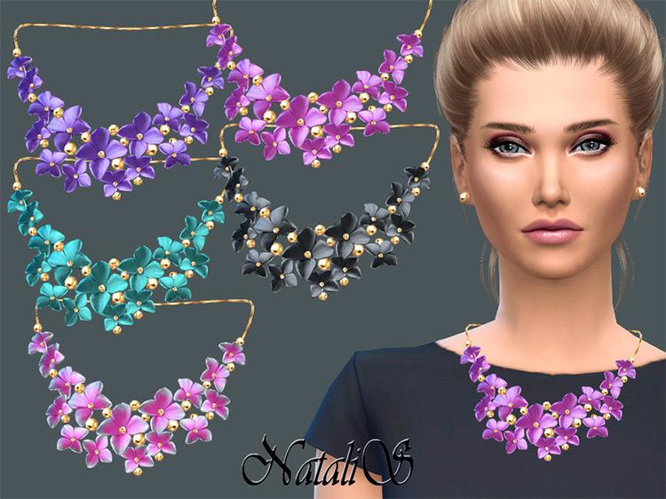 Massive Flower Necklace / Sims 4 CC