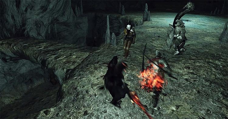 Afflicted Graverobber, Ancient Soldier Varg, and Cerah the Old Explorer Dark Souls 2
