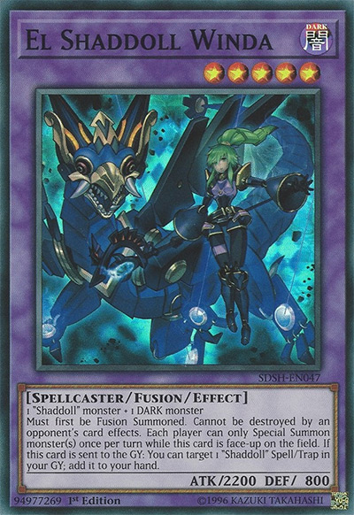 El Shaddoll Winda Yu-Gi-Oh Card