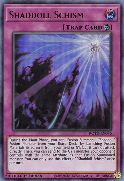Shaddoll Schism YGO Card