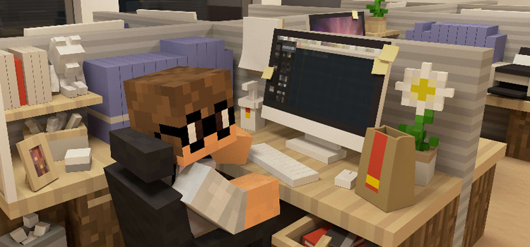 Nerd Skin in Office Cubicle in Minecraft