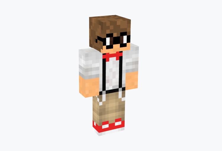 Male Nerd with Suspenders / Minecraft Skin