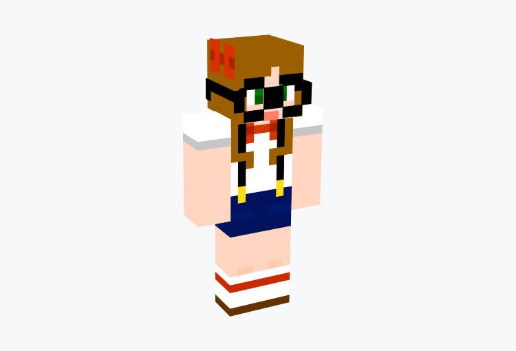 Nerd Girl With Glasses / Minecraft Skin
