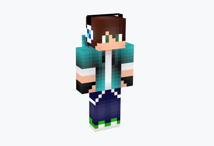 Cool Geek Gamer Boy / Minecraft Skin