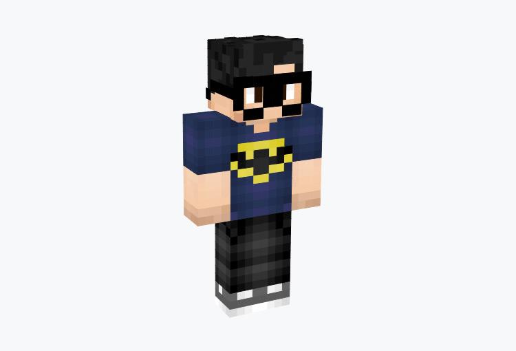 Guy wearing Batman T-shirt / Minecraft Skin