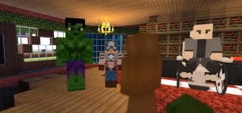 XMen Avengers Meet in Minecraft