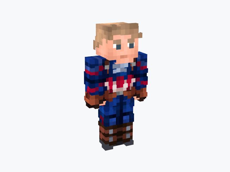 Marvel's Captain America / Minecraft Skin