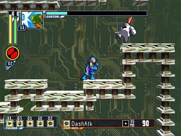 Mega Man Network Transmission gameplay screenshot