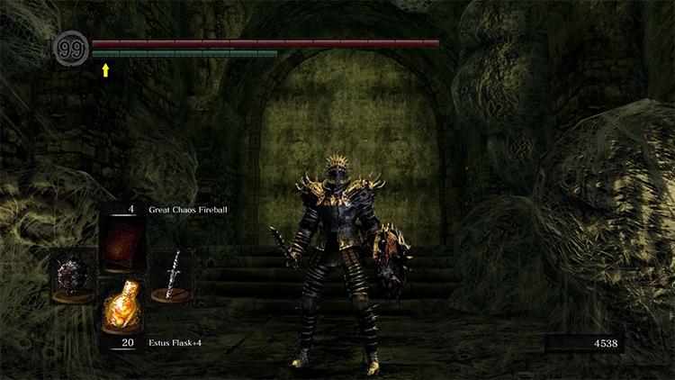 Dark Souls Remastered Barbed Straight Sword gameplay screenshot